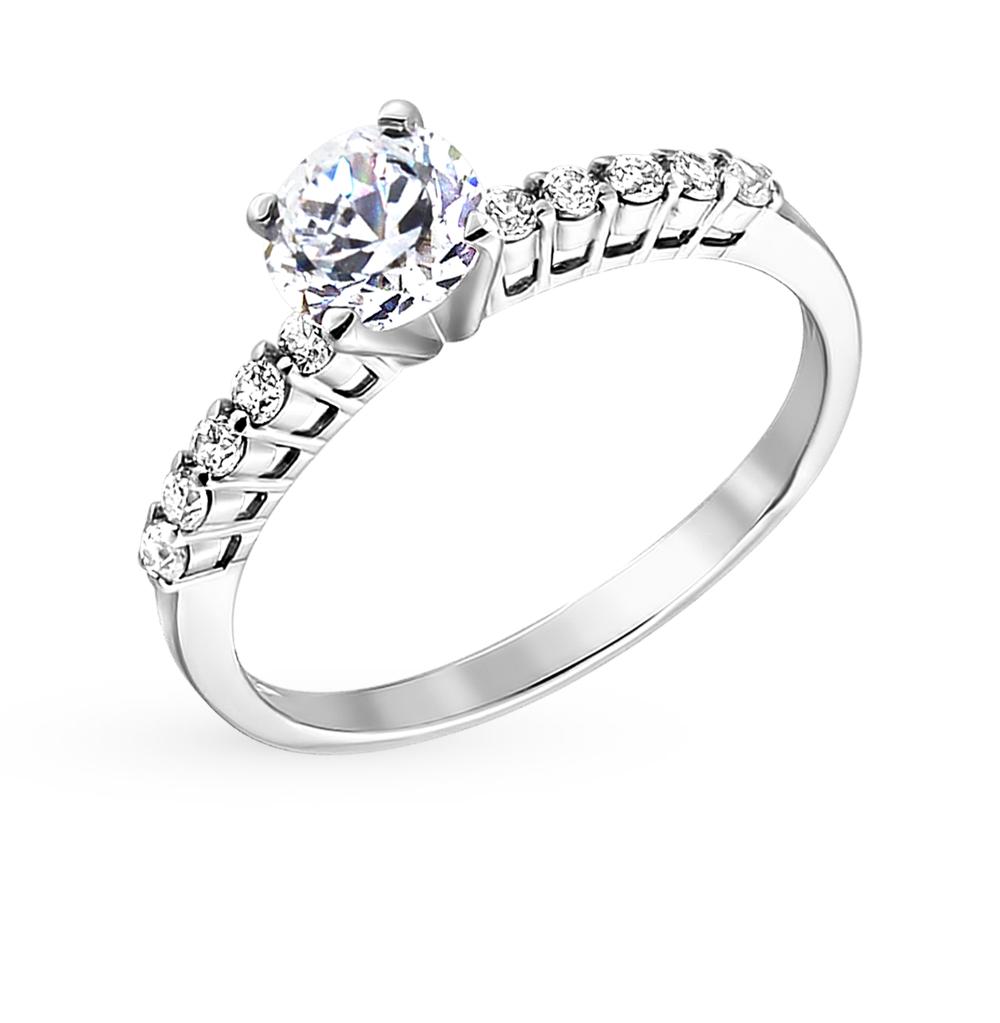 золотое кольцо с фианитами SOKOLOV 012954*