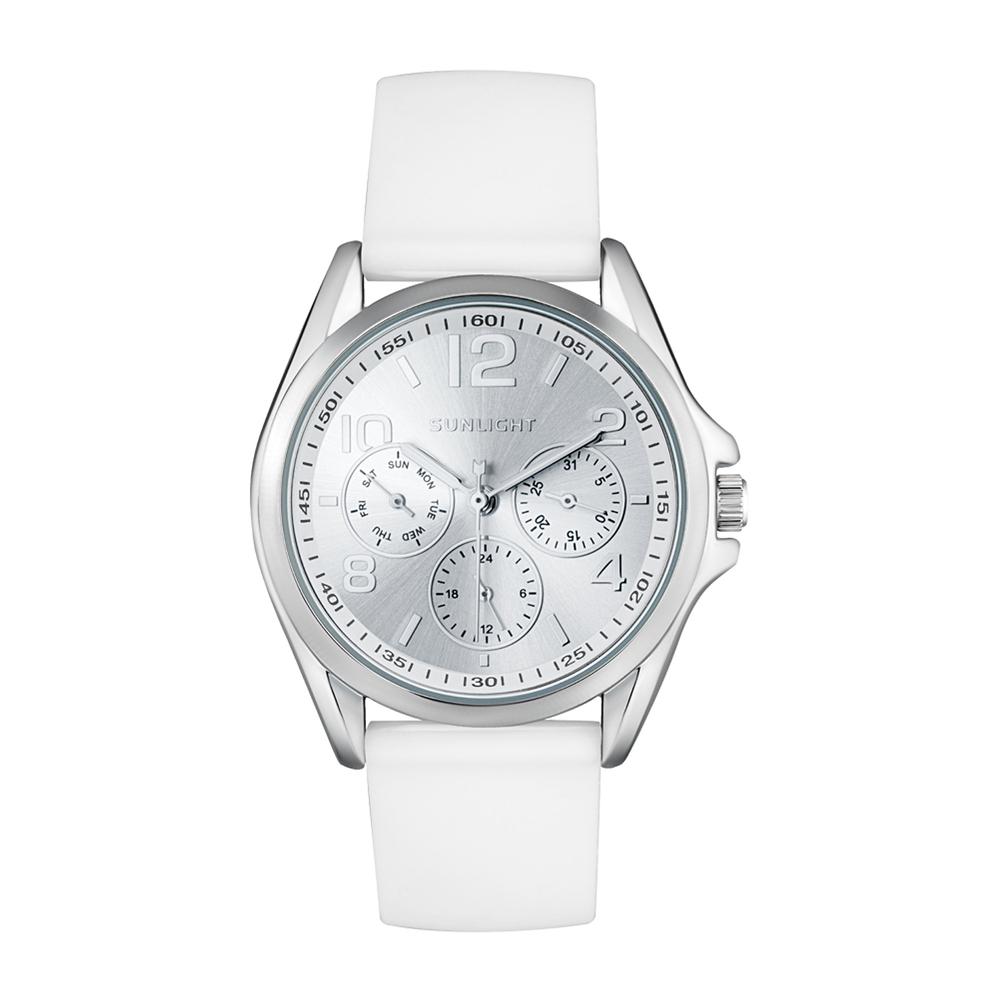 Фото «Женские часы с календарем на резиновом ремне»