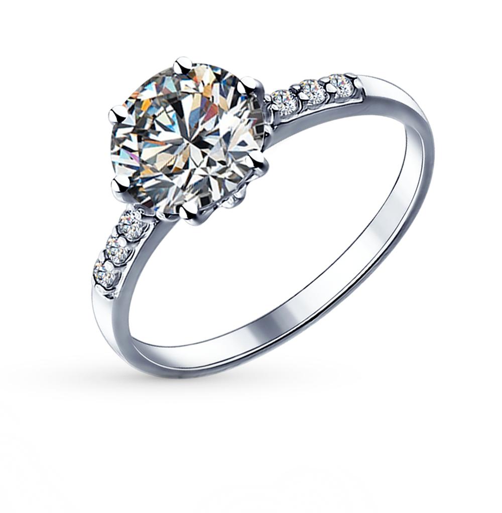 серебряное кольцо с фианитами SOKOLOV 89010012