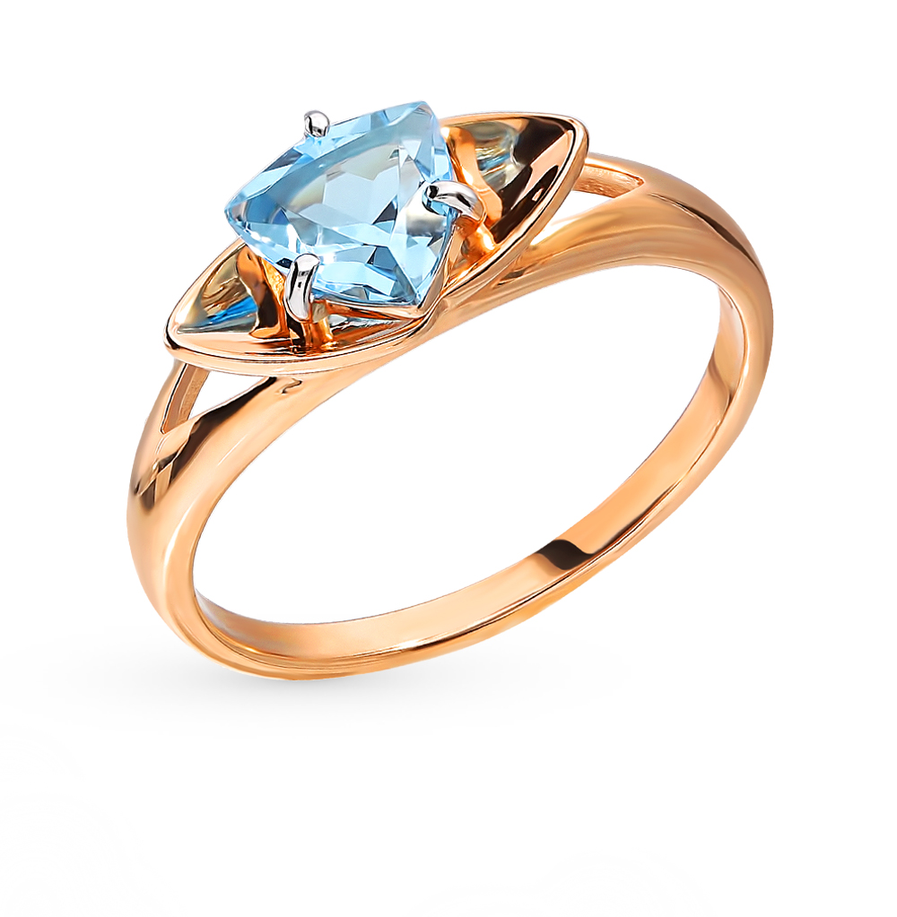 золотое кольцо с топазами SOKOLOV 715372*