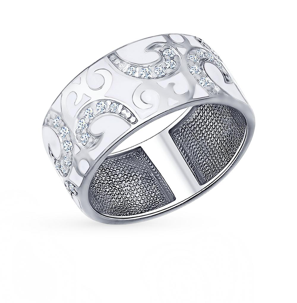 серебряное кольцо с фианитами SOKOLOV 94011343