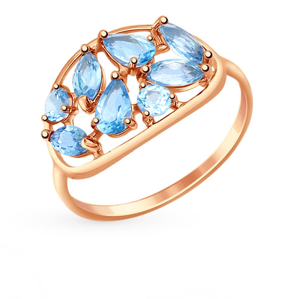 золотое кольцо с топазами SOKOLOV 714654*