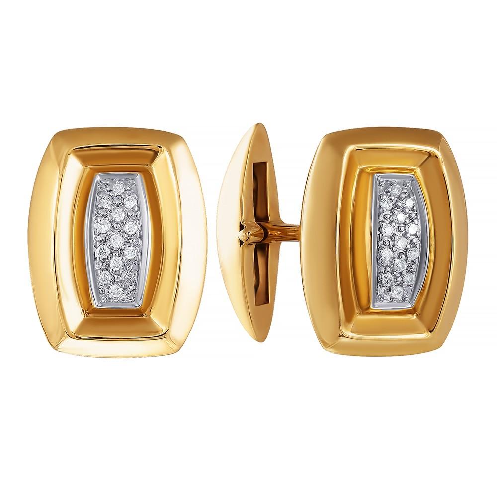 Золотые запонки с бриллиантами в Екатеринбурге