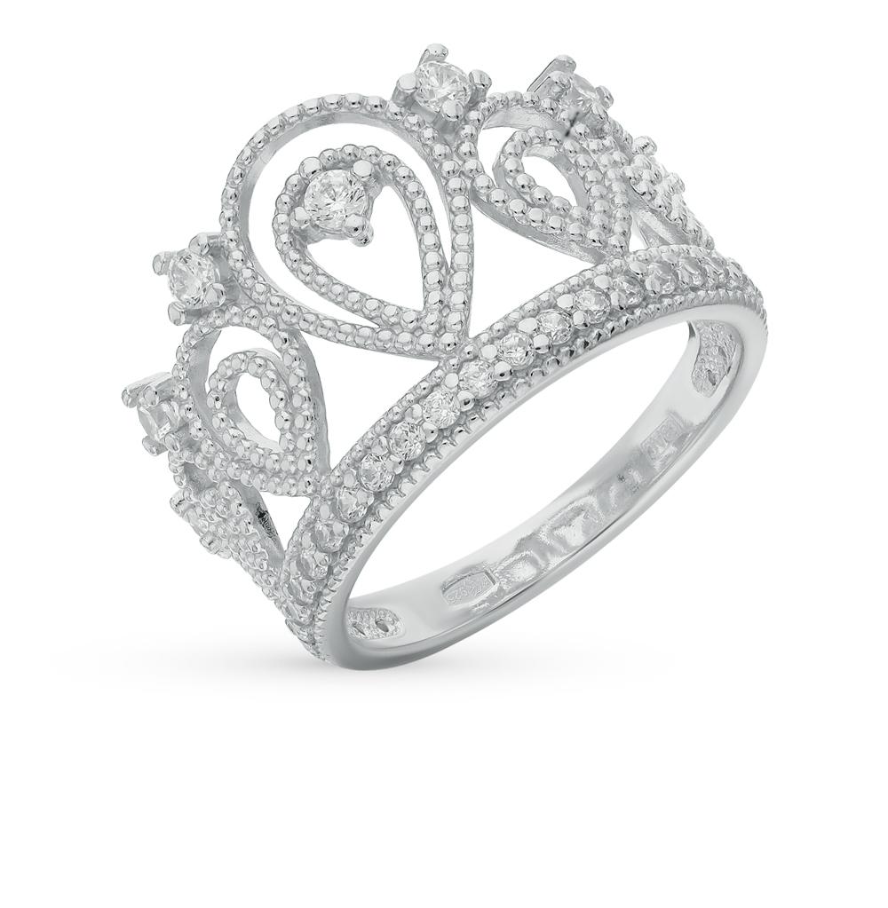 Фото «Серебряное кольцо с фианитами SOKOLOV 94011215»