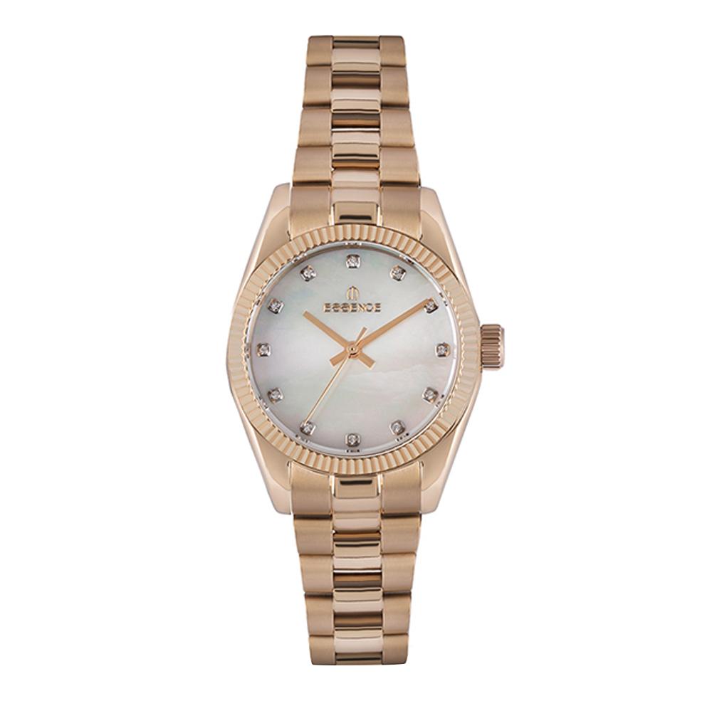 Фото «Женские часы ES6589FE.420 на стальном браслете с розовым IP покрытием с минеральным стеклом»