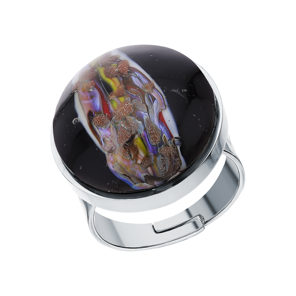 Стальное кольцо с муранскими стёклами в Санкт-Петербурге