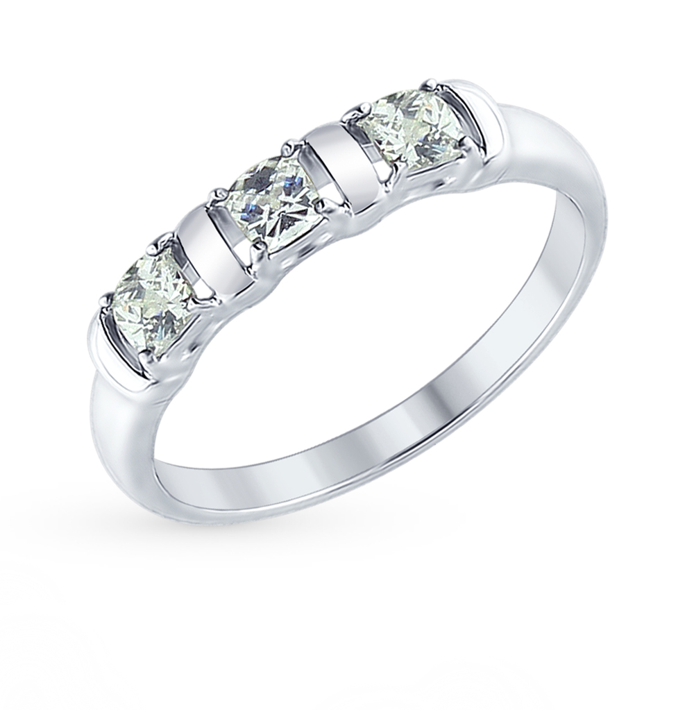 серебряное кольцо с фианитами SOKOLOV 89010065