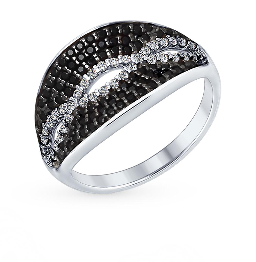 серебряное кольцо с фианитами SOKOLOV 94012357