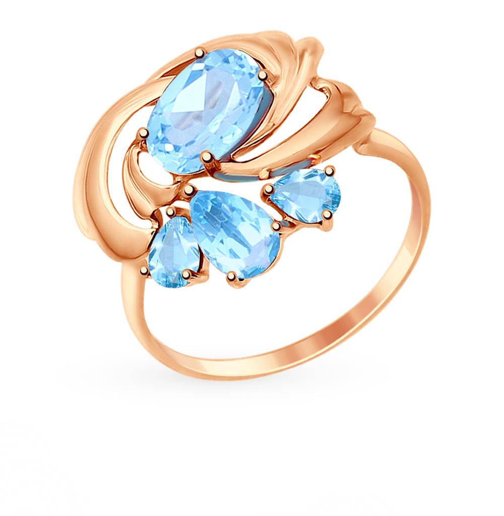 золотое кольцо с топазами SOKOLOV 714735*