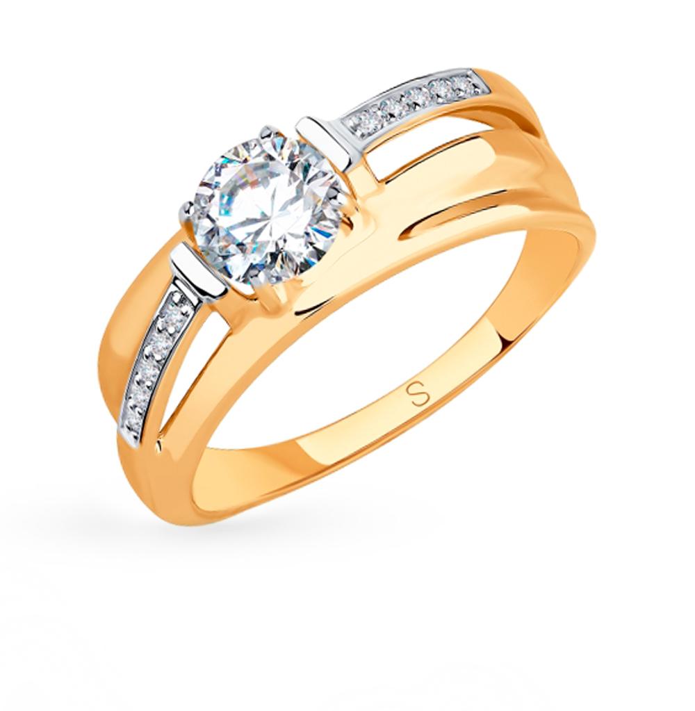 Золотое кольцо с фианитами SOKOLOV 018297 в Екатеринбурге