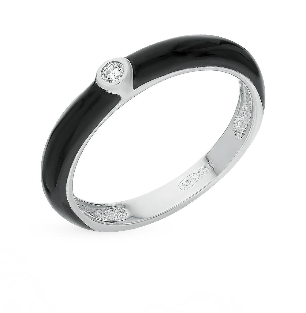 серебряное кольцо с фианитами и эмалью SOKOLOV 94011142