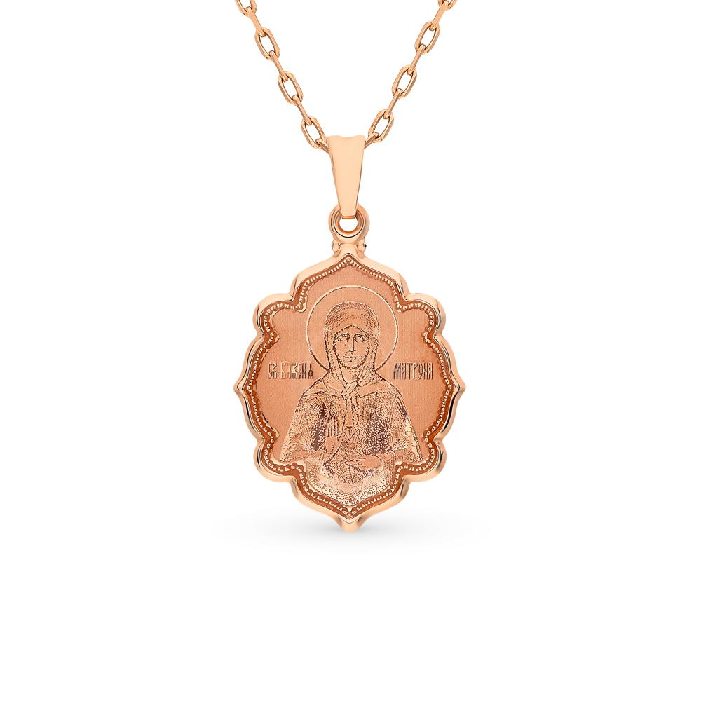 золотая подвеска с эмалью SOKOLOV 103017*
