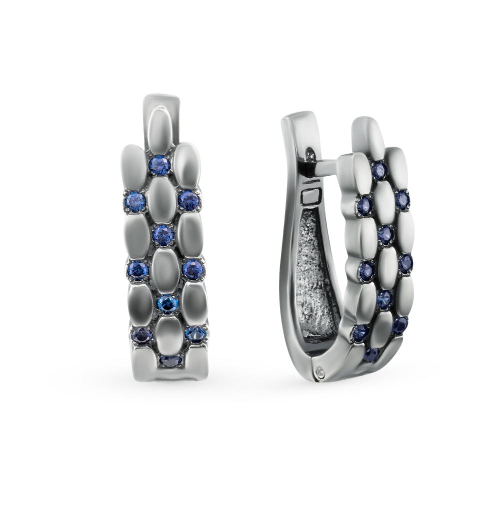 Фото «серьги из серебра с фианитами»