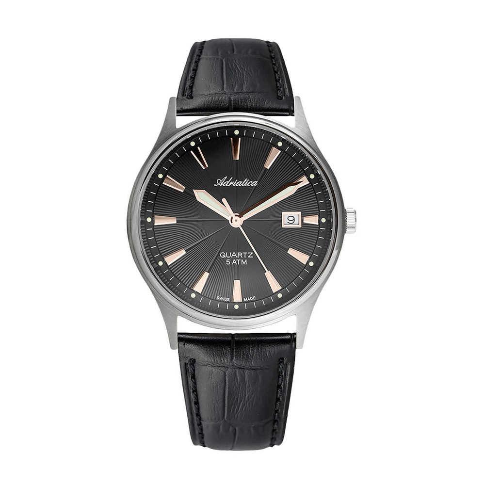 Фото «Мужские часы A1171.42R6Q на кожаном ремешке с сапфировым стеклом»