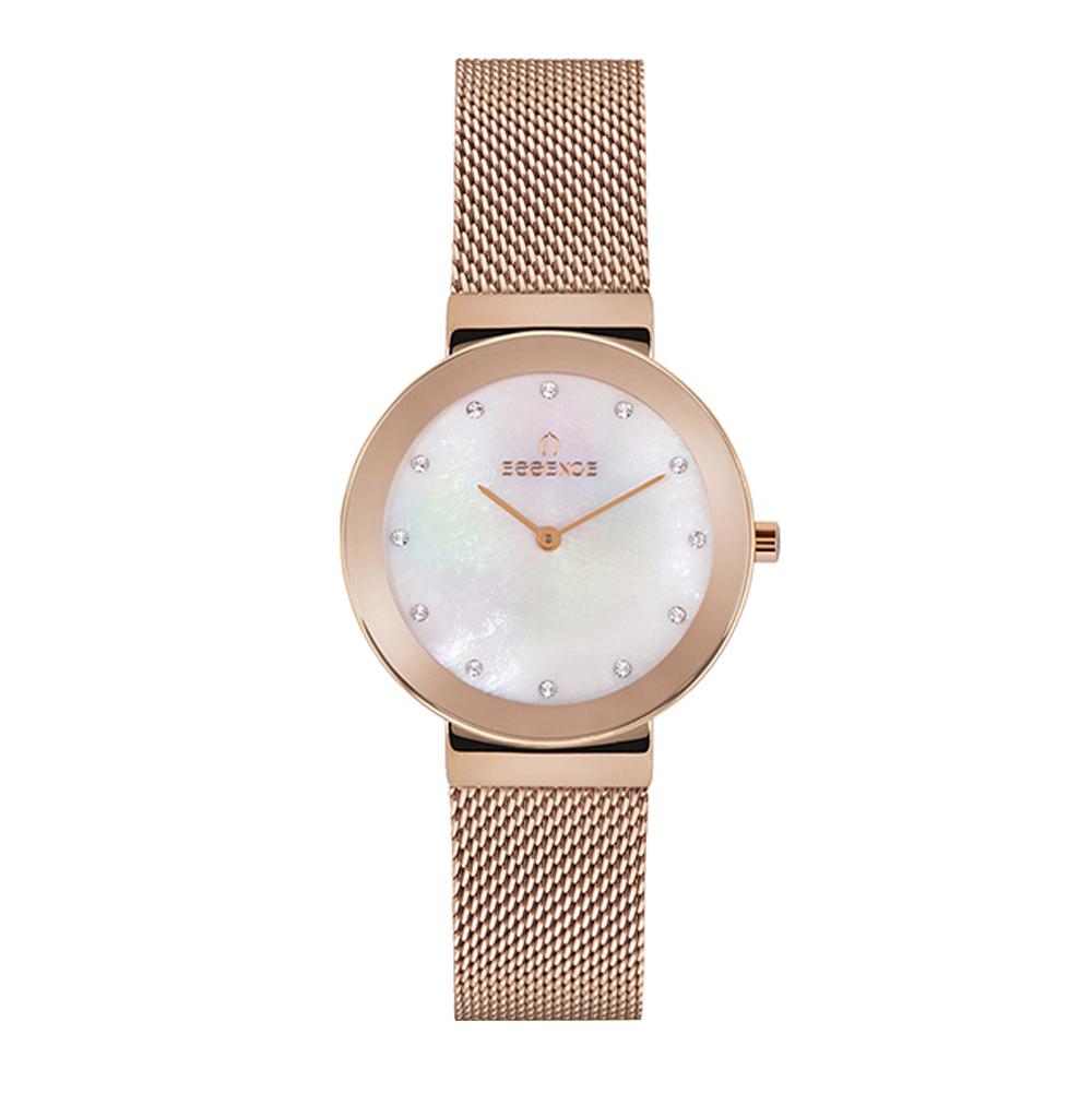 Фото «Женские часы ES6563FE.420 на стальном браслете с розовым IP покрытием с минеральным стеклом»