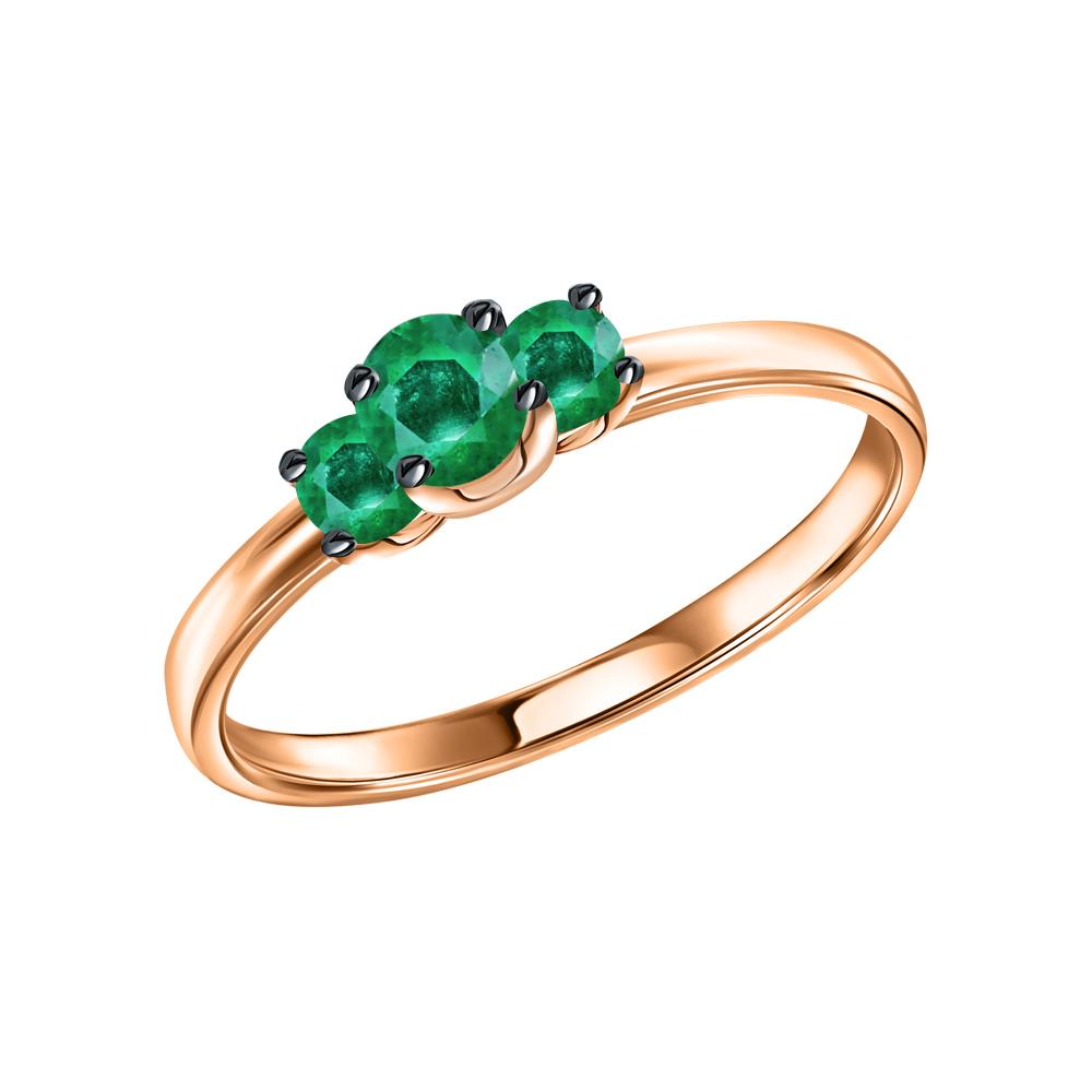 Золотое кольцо с изумрудами в Екатеринбурге