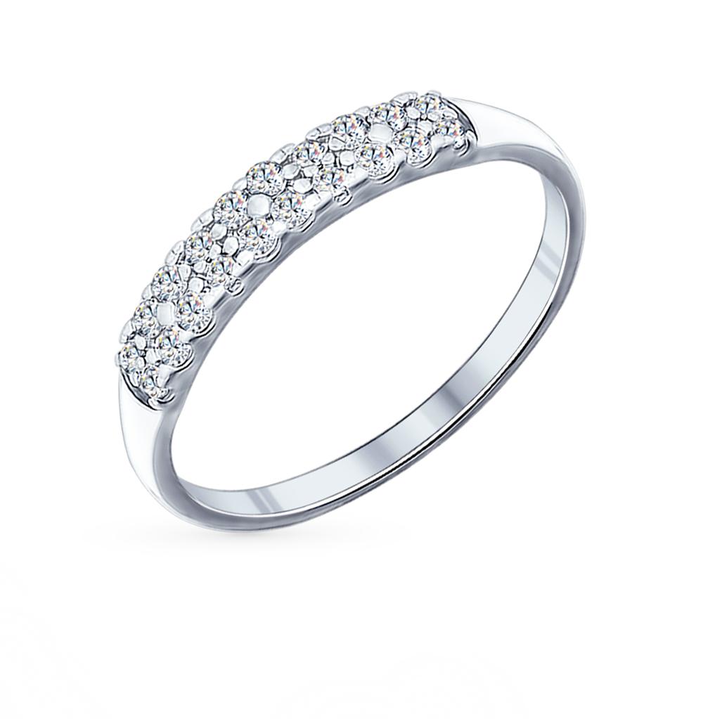 серебряное кольцо с фианитами SOKOLOV 94011718