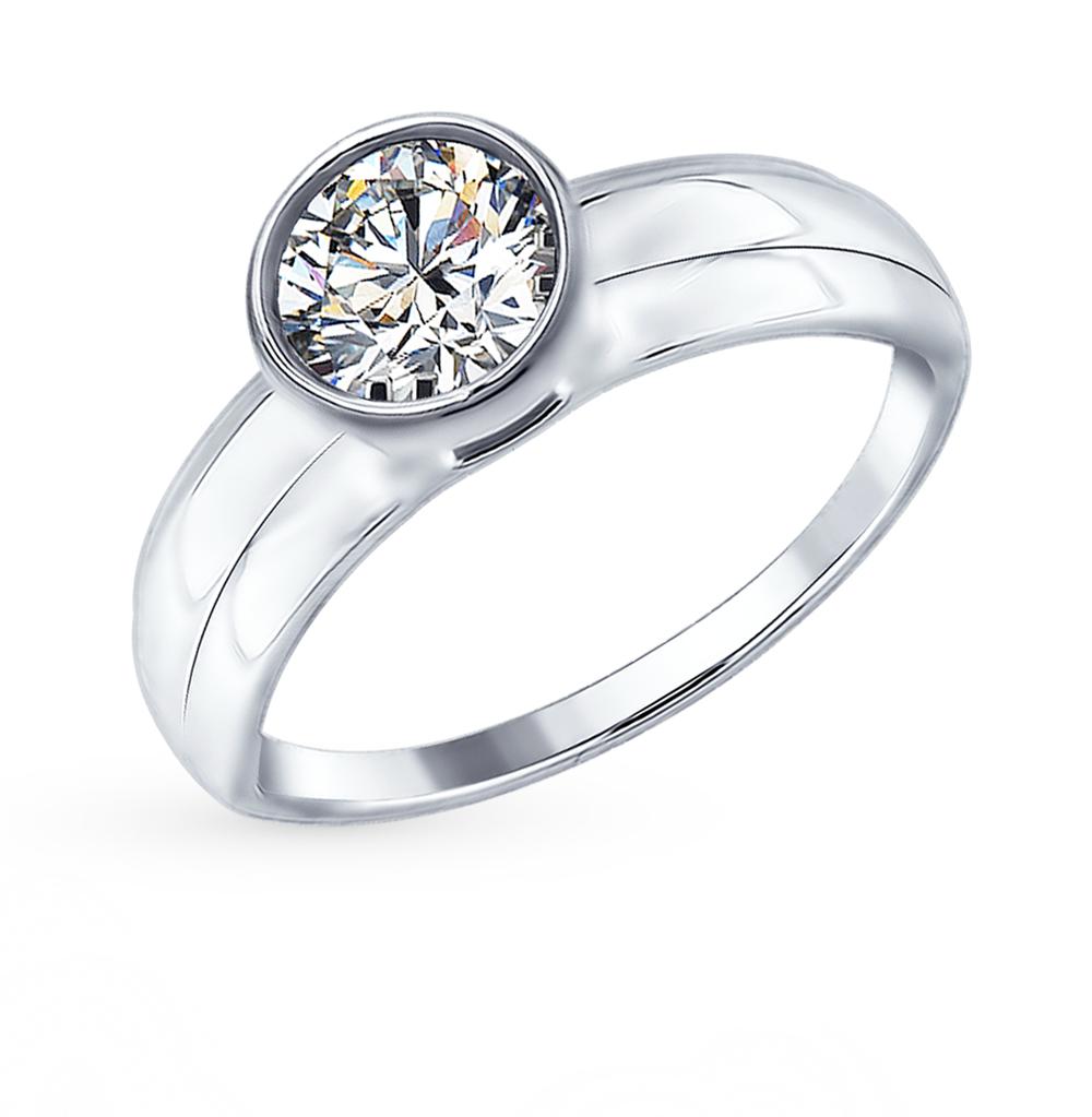 Серебряное кольцо с фианитами SOKOLOV 94012383 в Санкт-Петербурге