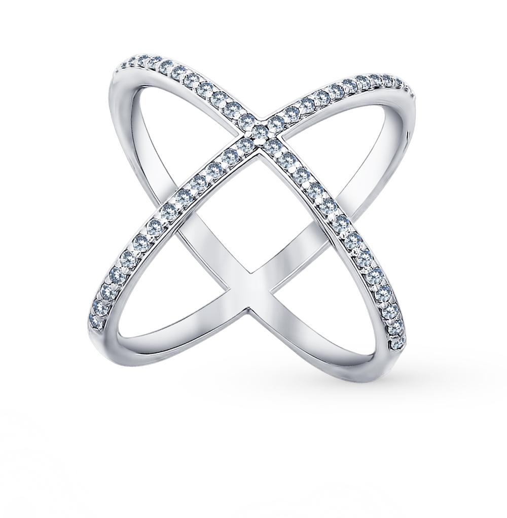 серебряное кольцо с фианитами SOKOLOV 94011298