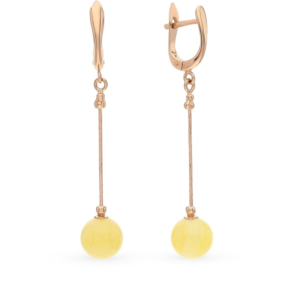 Фото «золото серьги с янтарем»