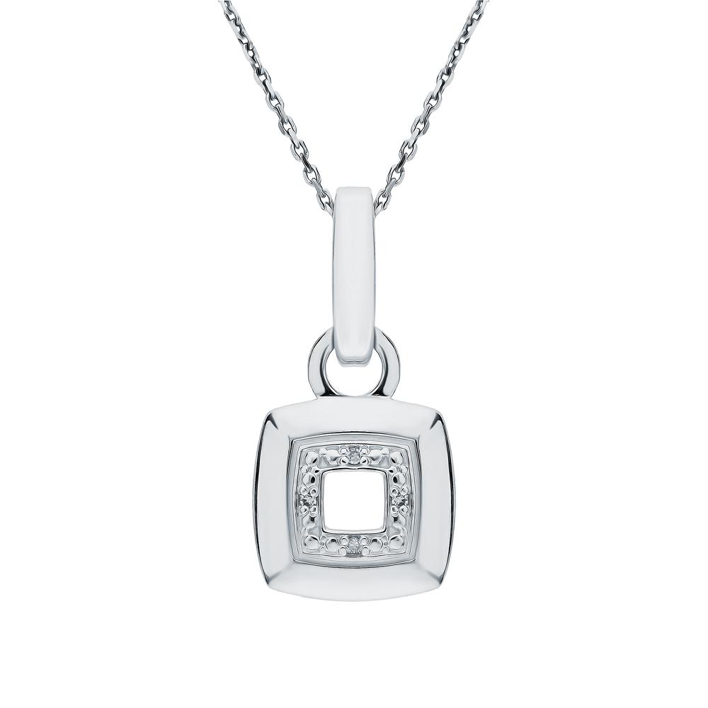 Фото «Серебряная подвеска с бриллиантами»
