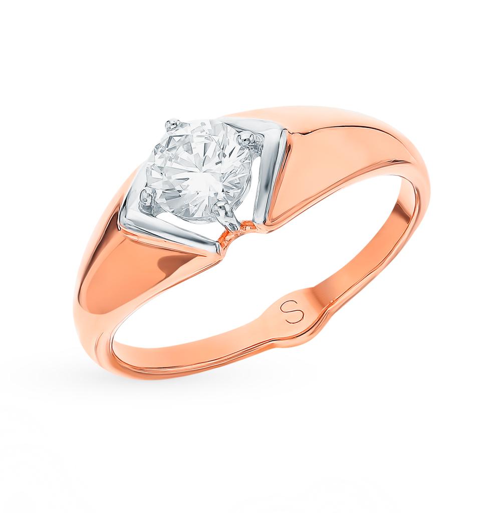золотое кольцо с фианитами SOKOLOV 017890*