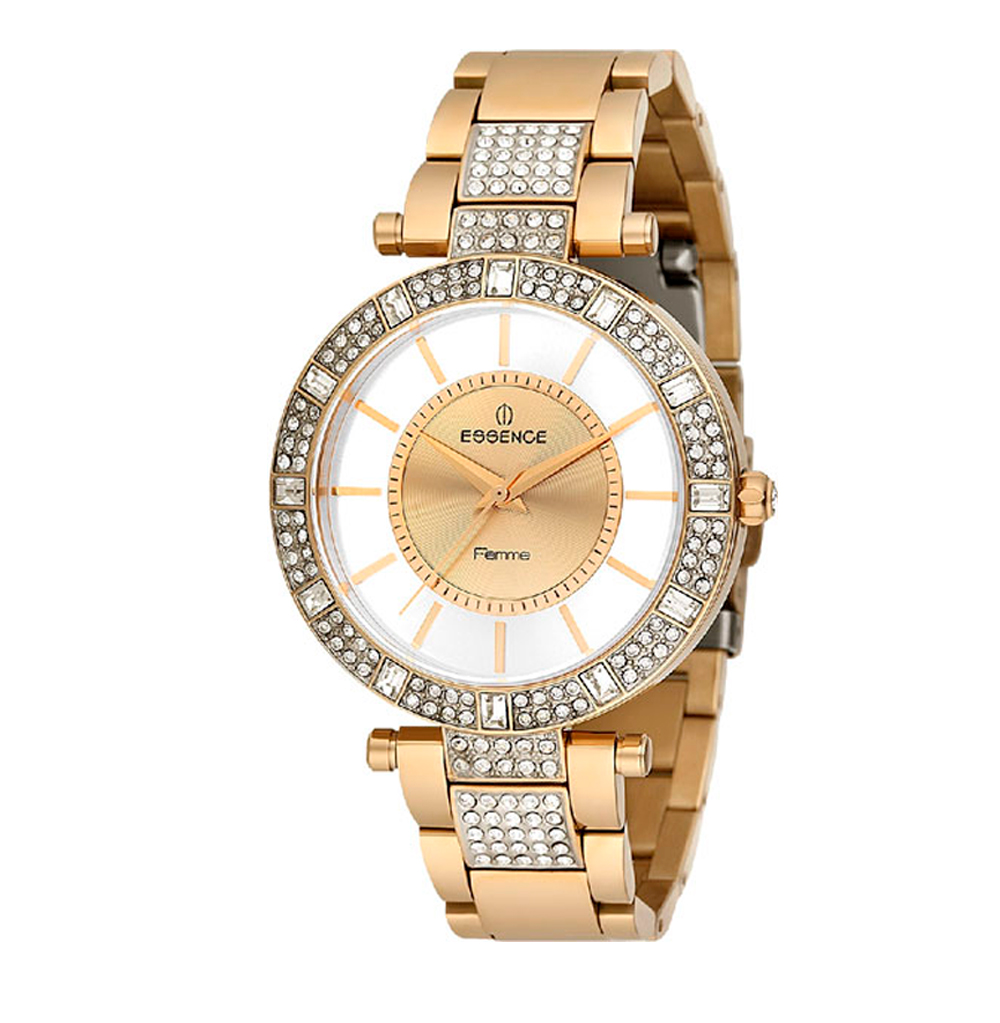 Женские часы ES6364FE.110 на стальном браслете с PVD покрытием с минеральным стеклом