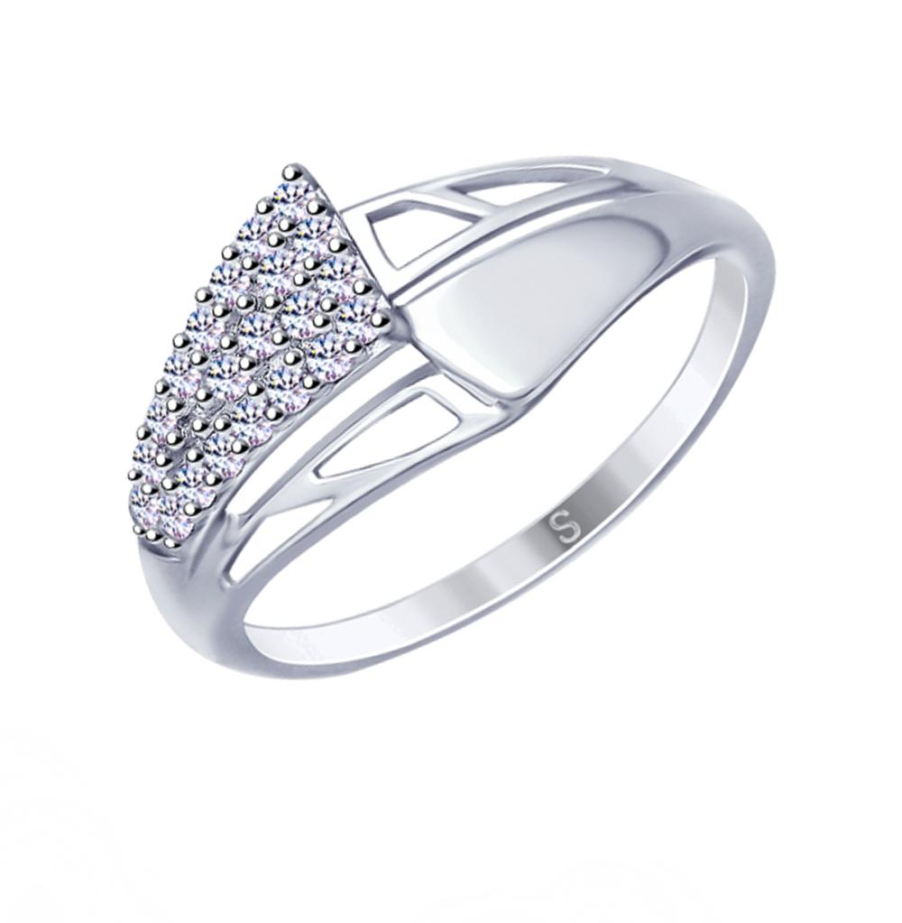 серебряное кольцо с фианитами SOKOLOV 94012680