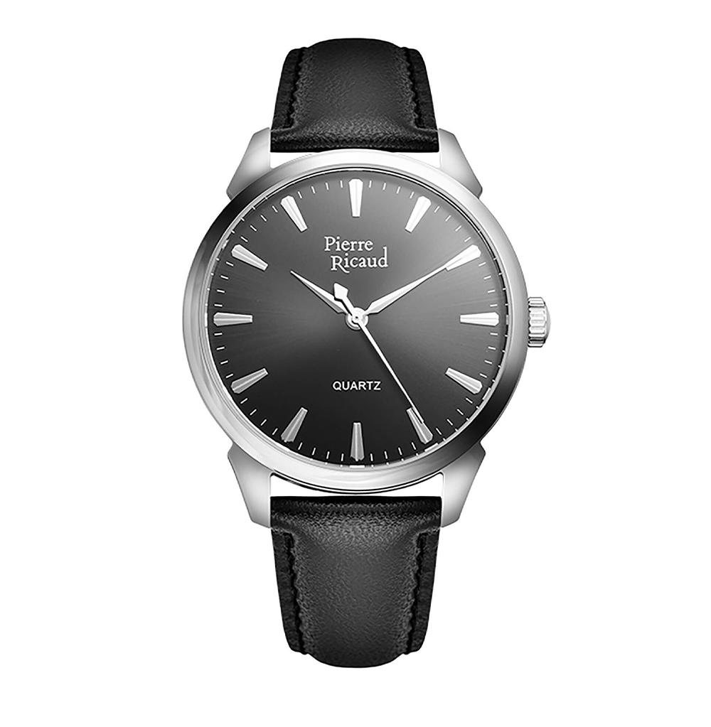 Фото «Мужские кварцевые часы P97228.5217Q на кожаном ремешке с минеральным стеклом»