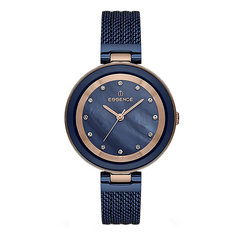 Женские часы ES6503FE.490 на стальном браслете с PVD покрытием с минеральным стеклом