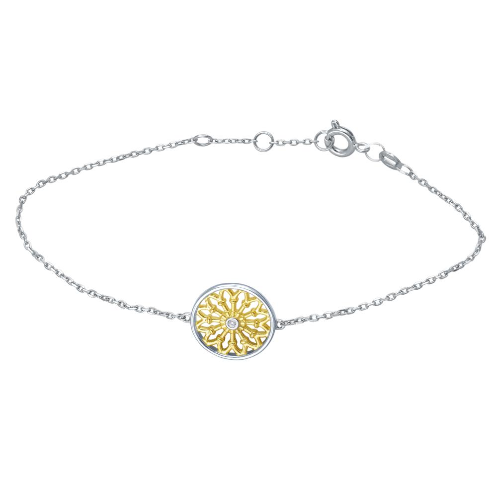 Золотой браслет с бриллиантами в Санкт-Петербурге