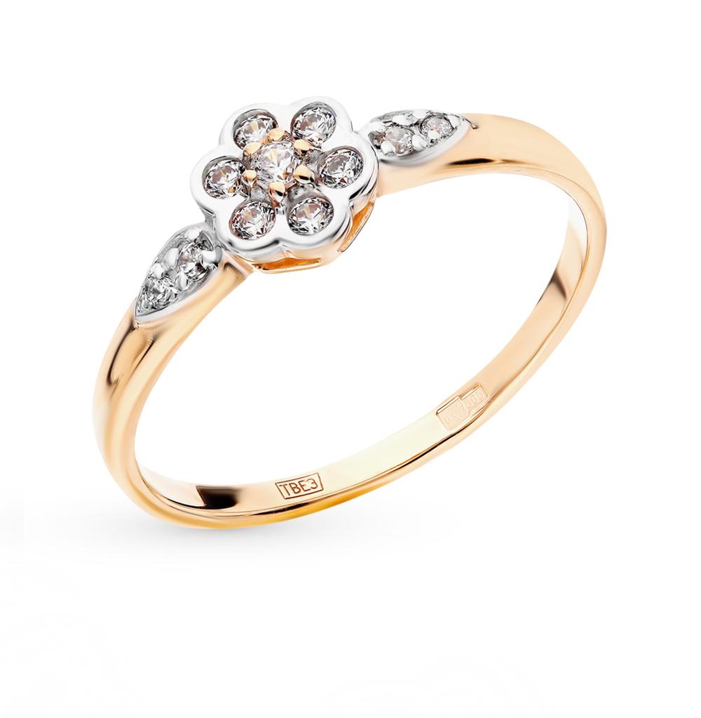 Золотое кольцо с фианитами SOKOLOV 017497* в Екатеринбурге