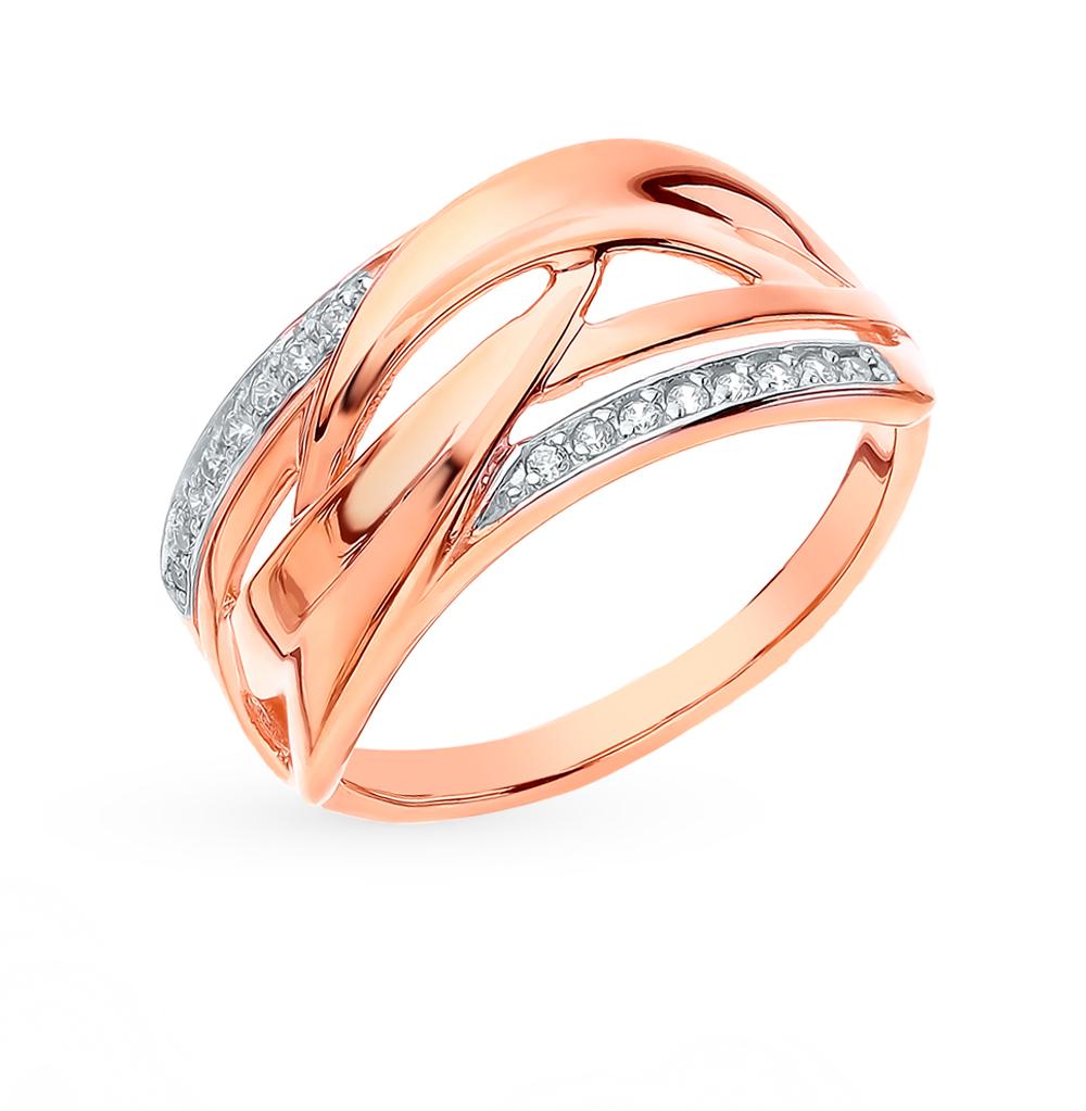 Золотое кольцо с фианитами SOKOLOV 018243 в Санкт-Петербурге