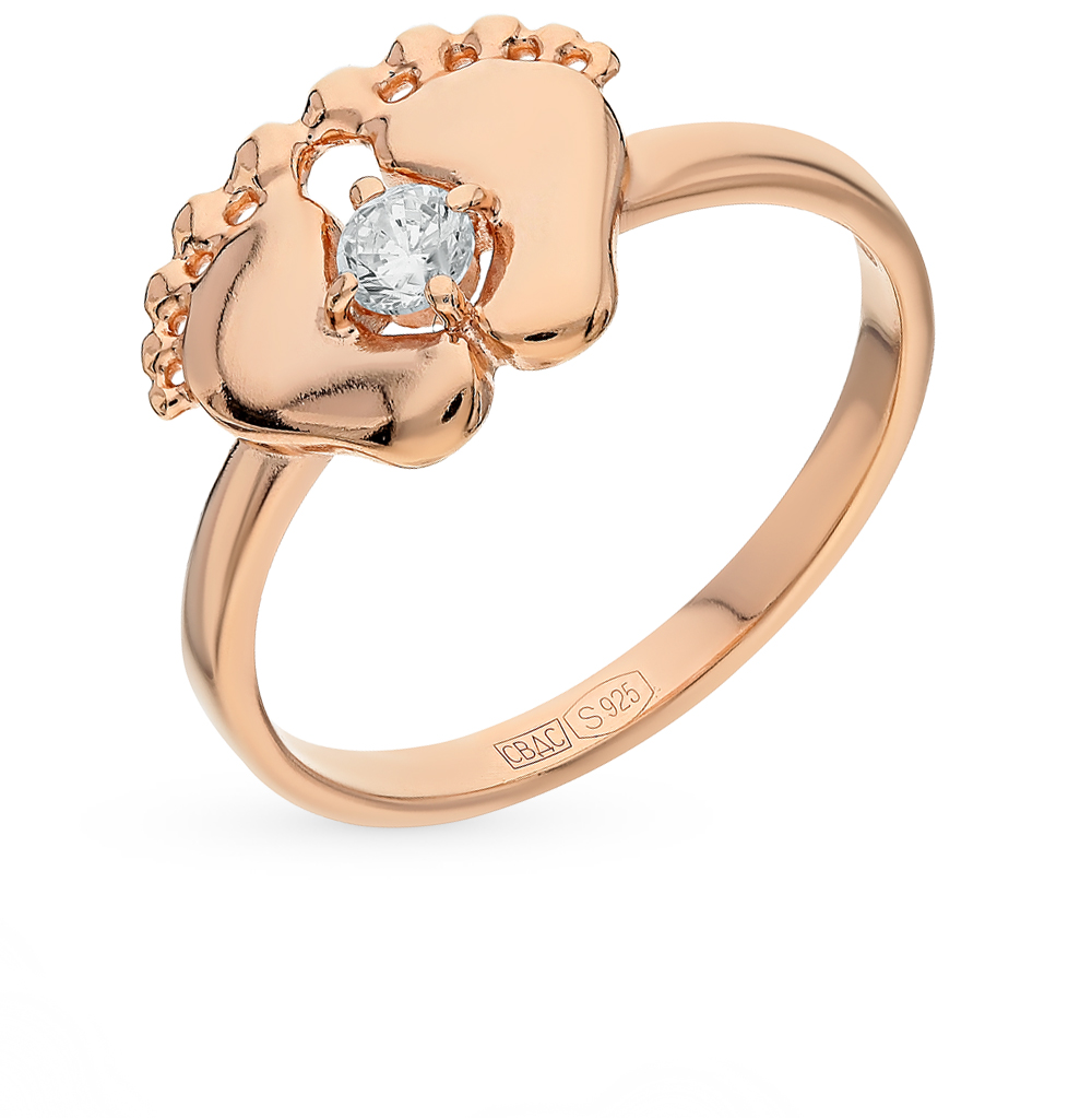 серебряное кольцо с фианитами SOKOLOV 93010600