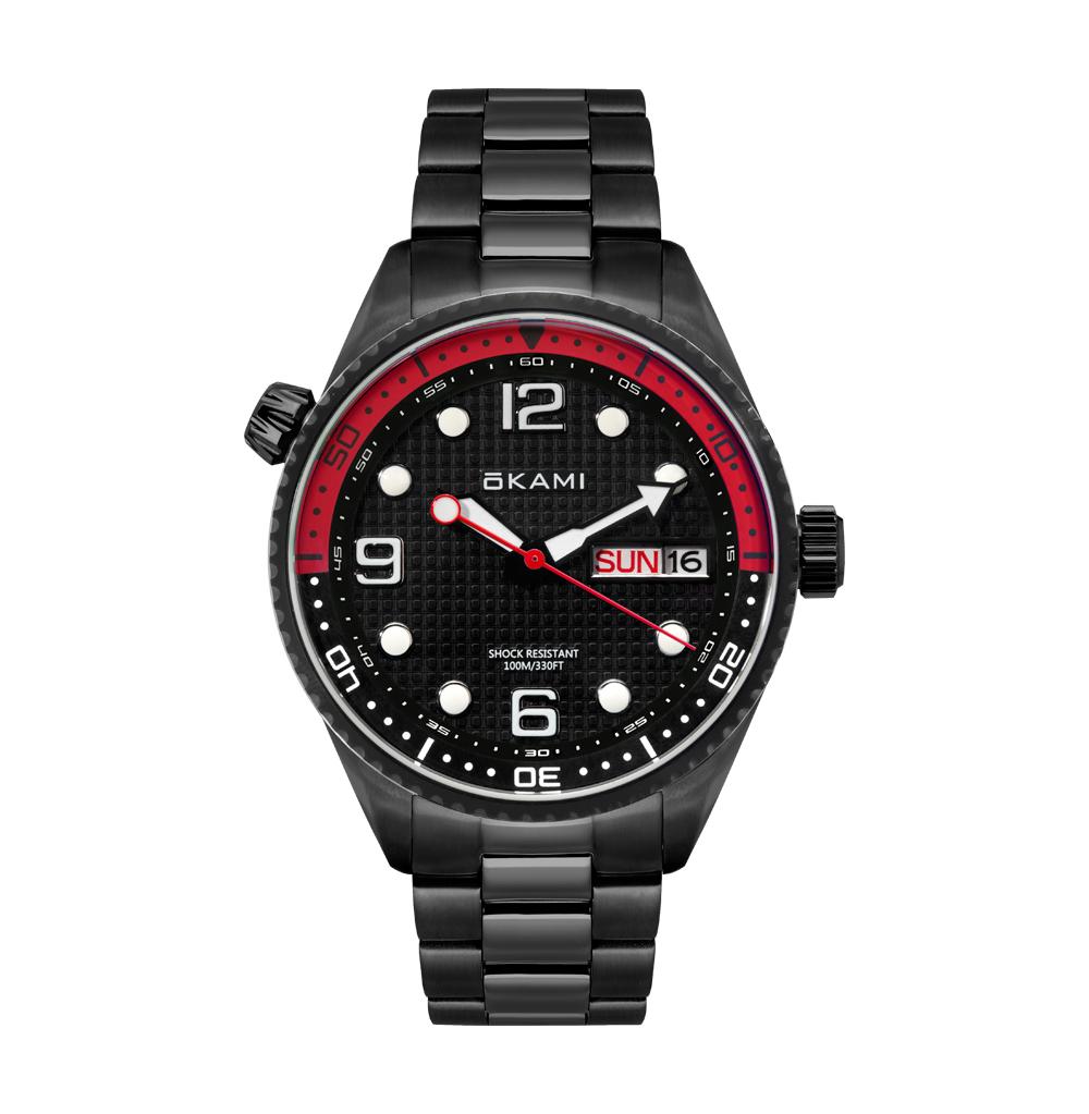 Мужские часы с календарем на стальном браслете