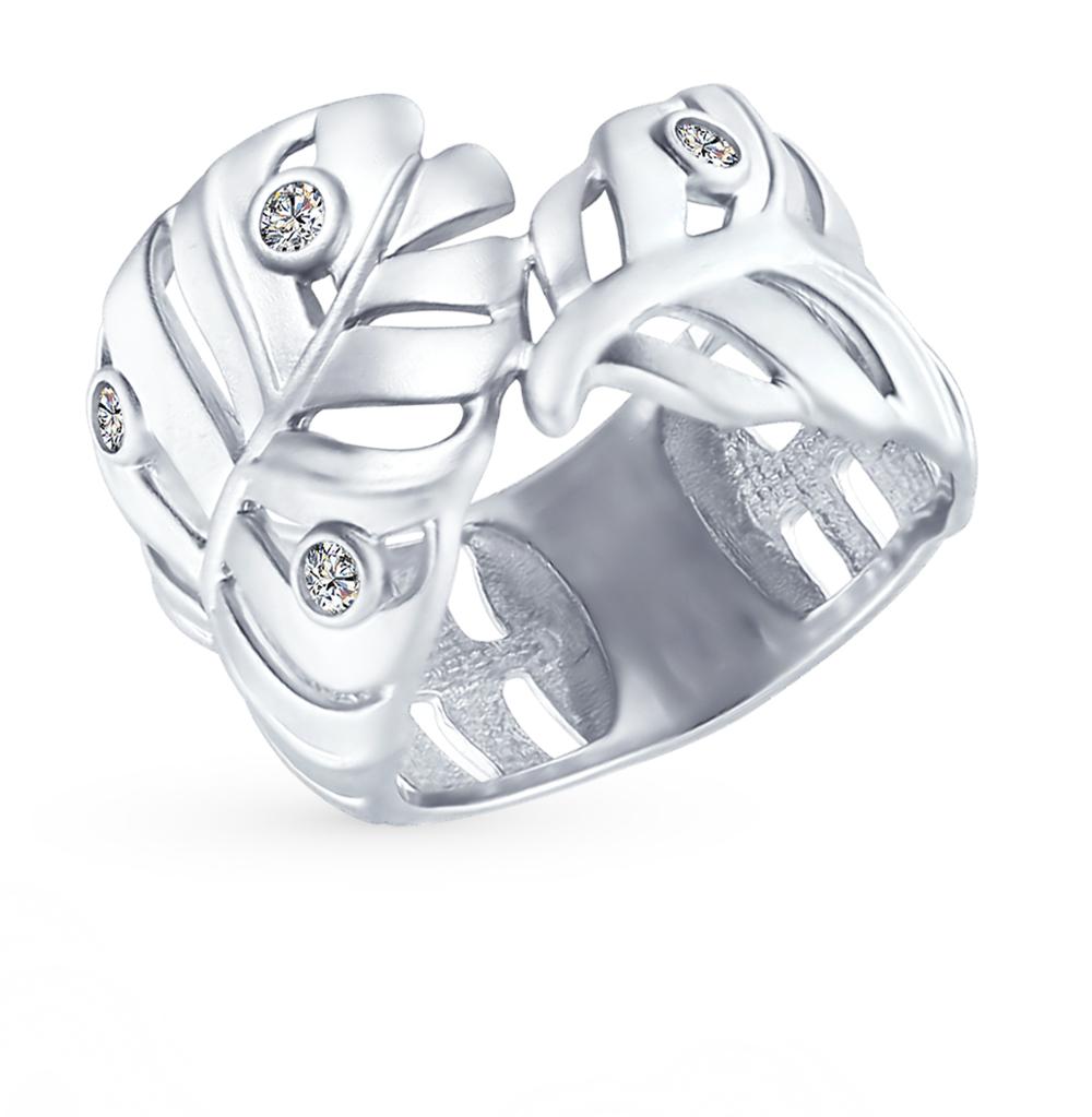 серебряное кольцо с фианитами SOKOLOV 94012390