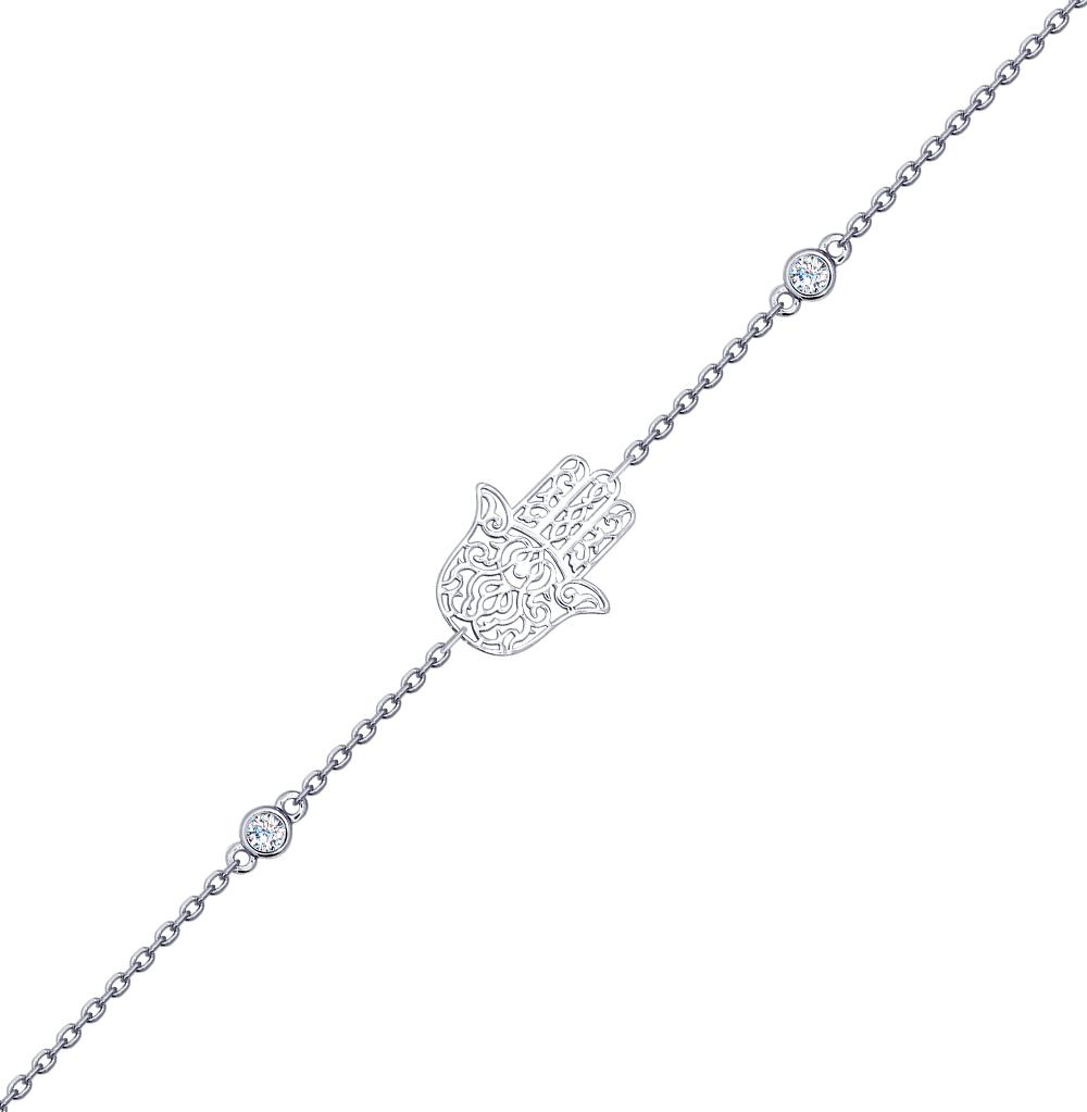 серебряный браслет с фианитами SOKOLOV 94050345