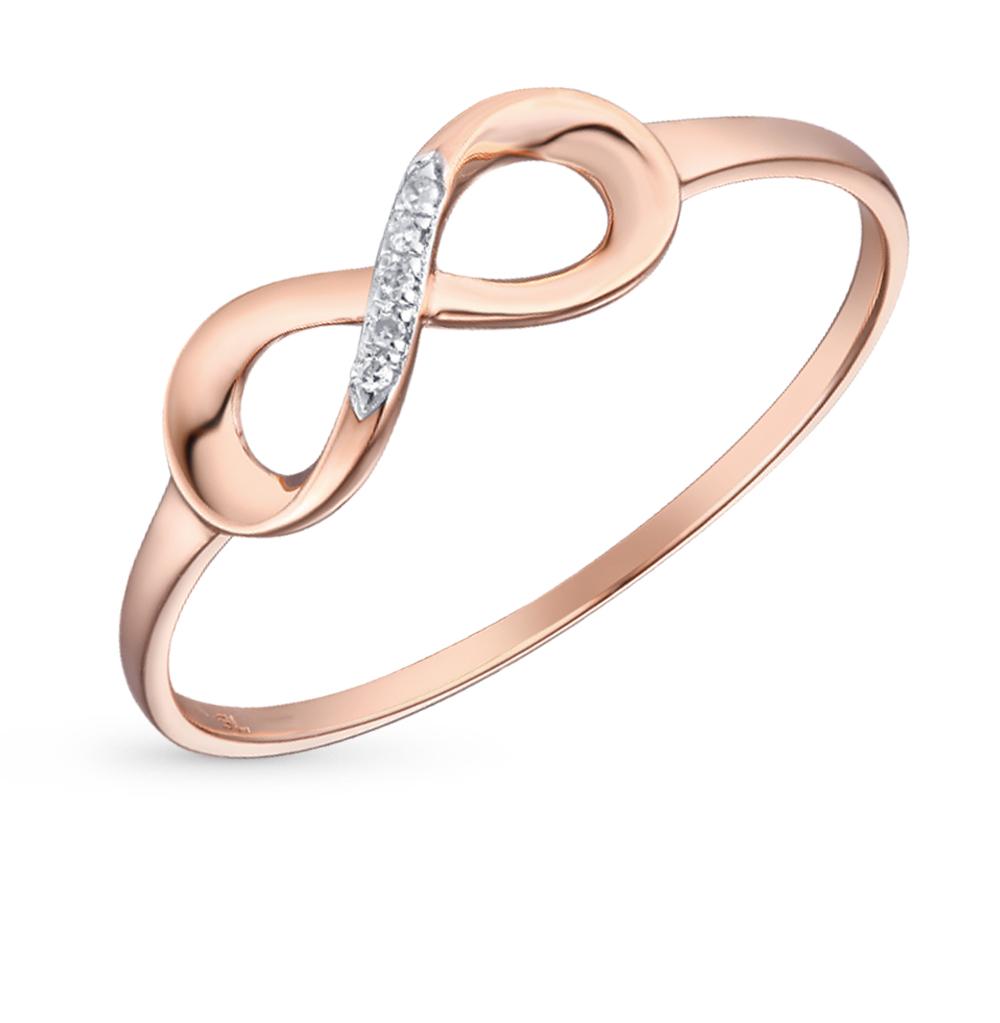 Золотое кольцо с бриллиантами SUNLIGHT  красное и розовое золото 585 ... 2591e7444a958