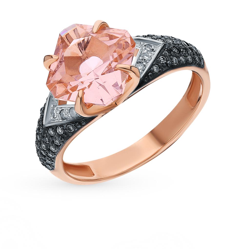 Фото «Золотое кольцо с бриллиантами и морганитом»