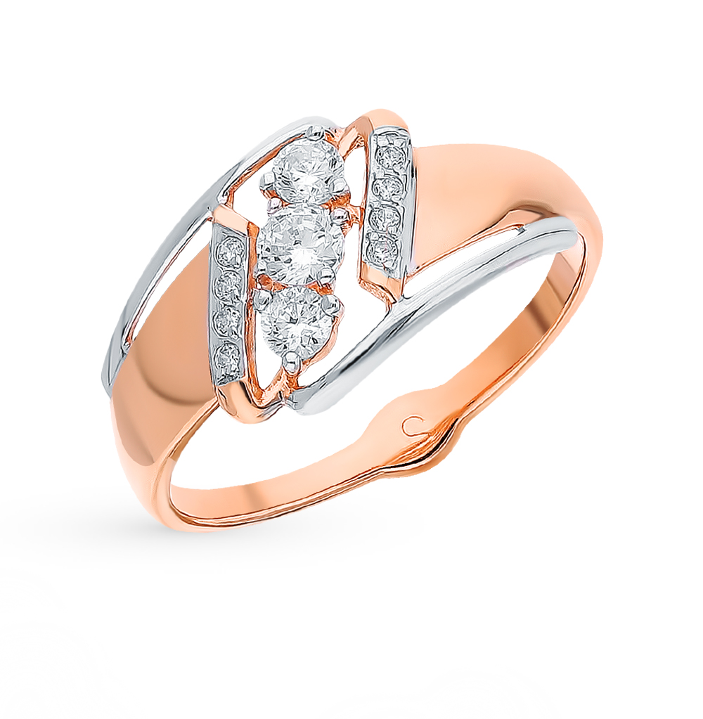 Золотое кольцо с фианитами SOKOLOV 018073* в Екатеринбурге