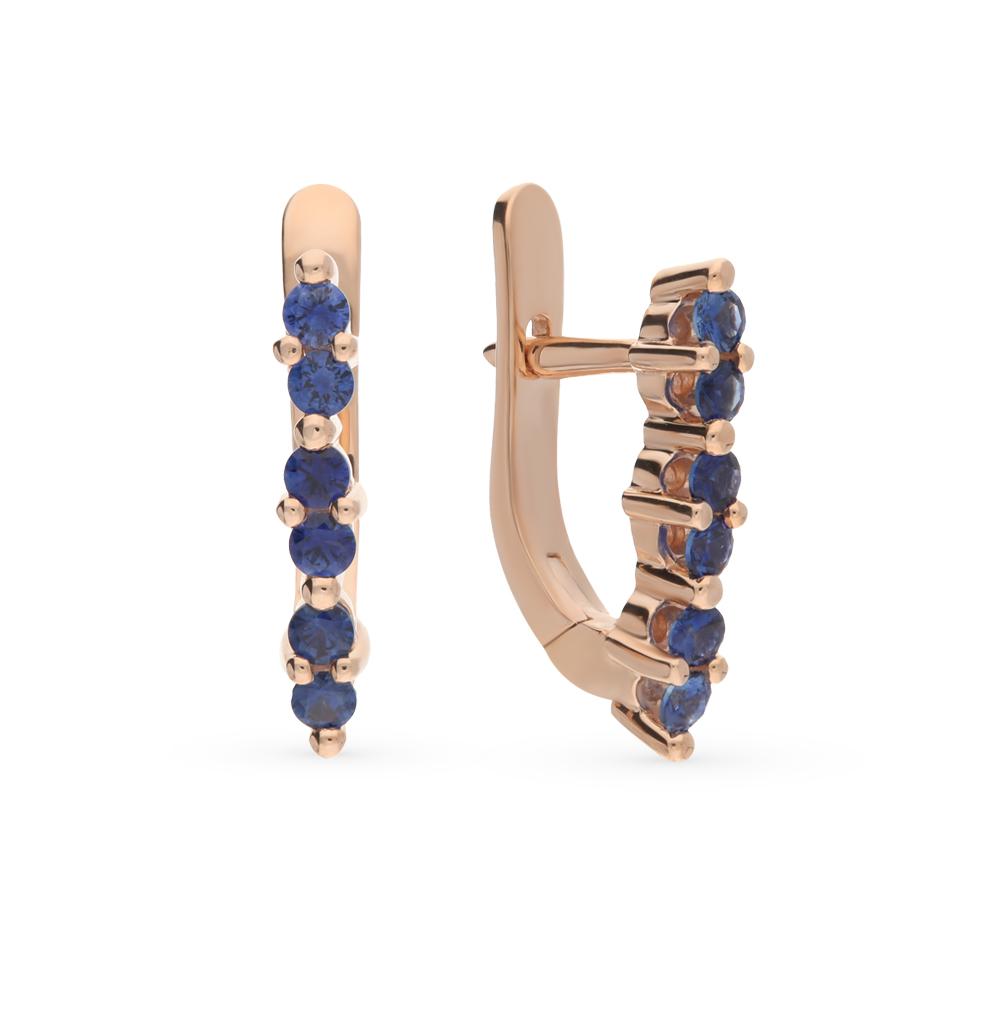Фото «золотые серьги с сапфирами»