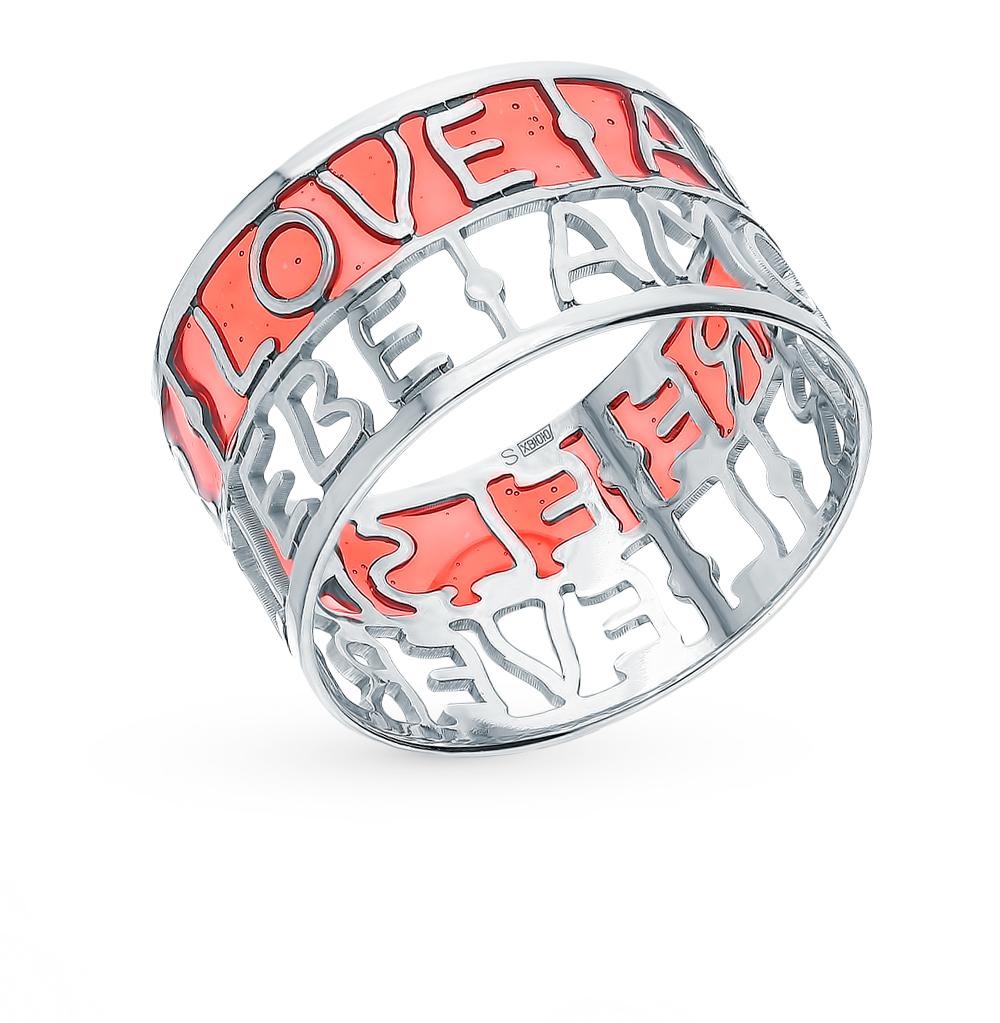 Серебряное кольцо с эмалью SOKOLOV 94013097 в Екатеринбурге