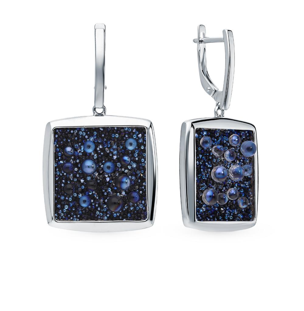 Фото «Серебряные серьги с кристаллами SOKOLOV 94023809»