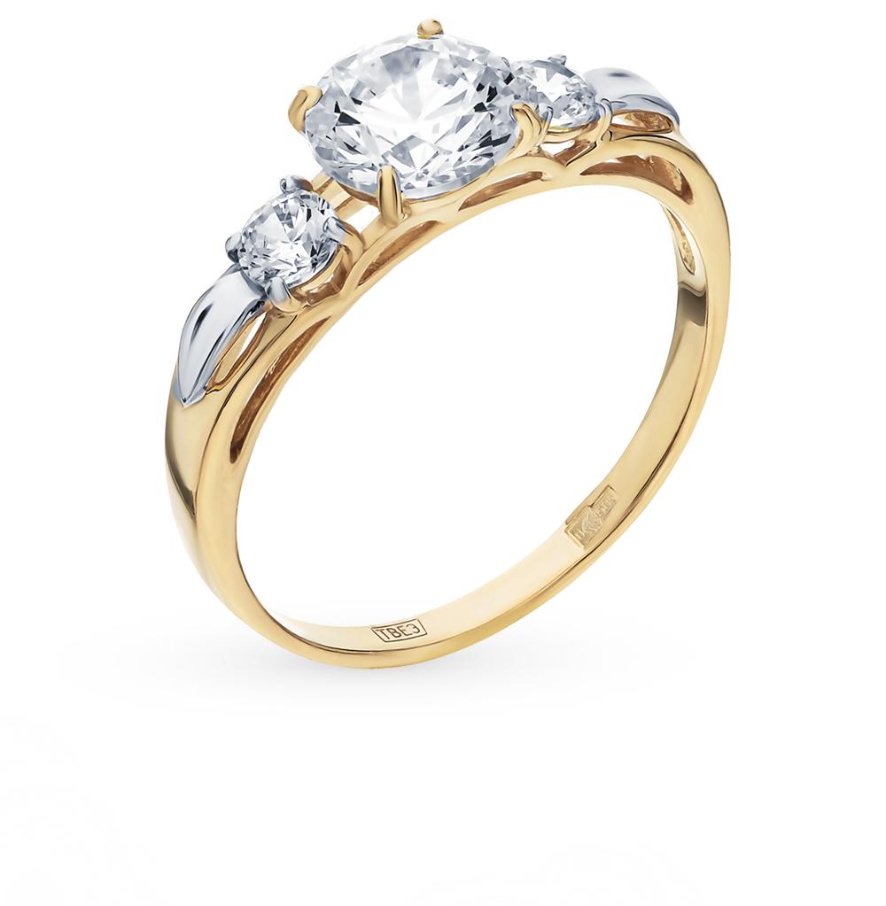 золотое кольцо с фианитами SOKOLOV 81010194-2*