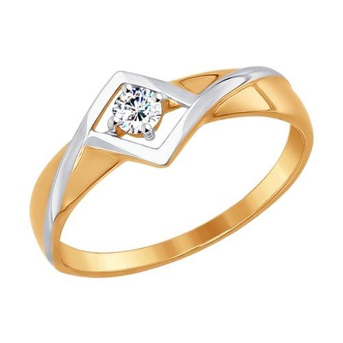 Фото «Золотое кольцо с фианитами SOKOLOV 017274*»