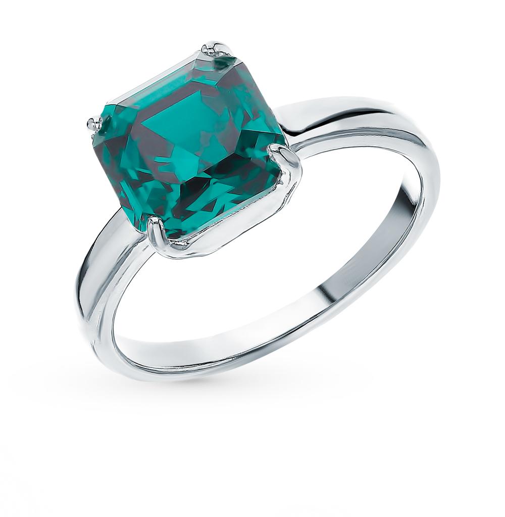 Фото «Серебряное кольцо с кристаллами swarovski SOKOLOV 94013125»