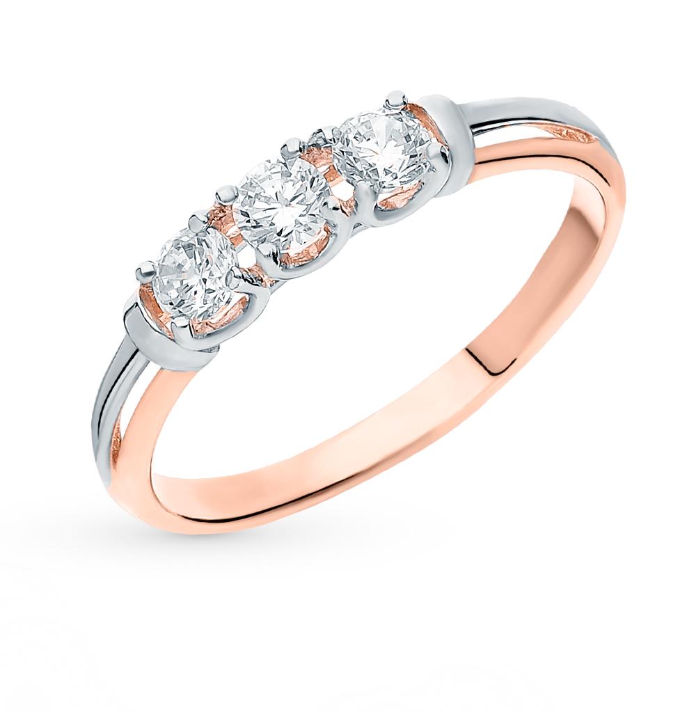 Фото «Золотое кольцо с фианитами SOKOLOV 018091*»