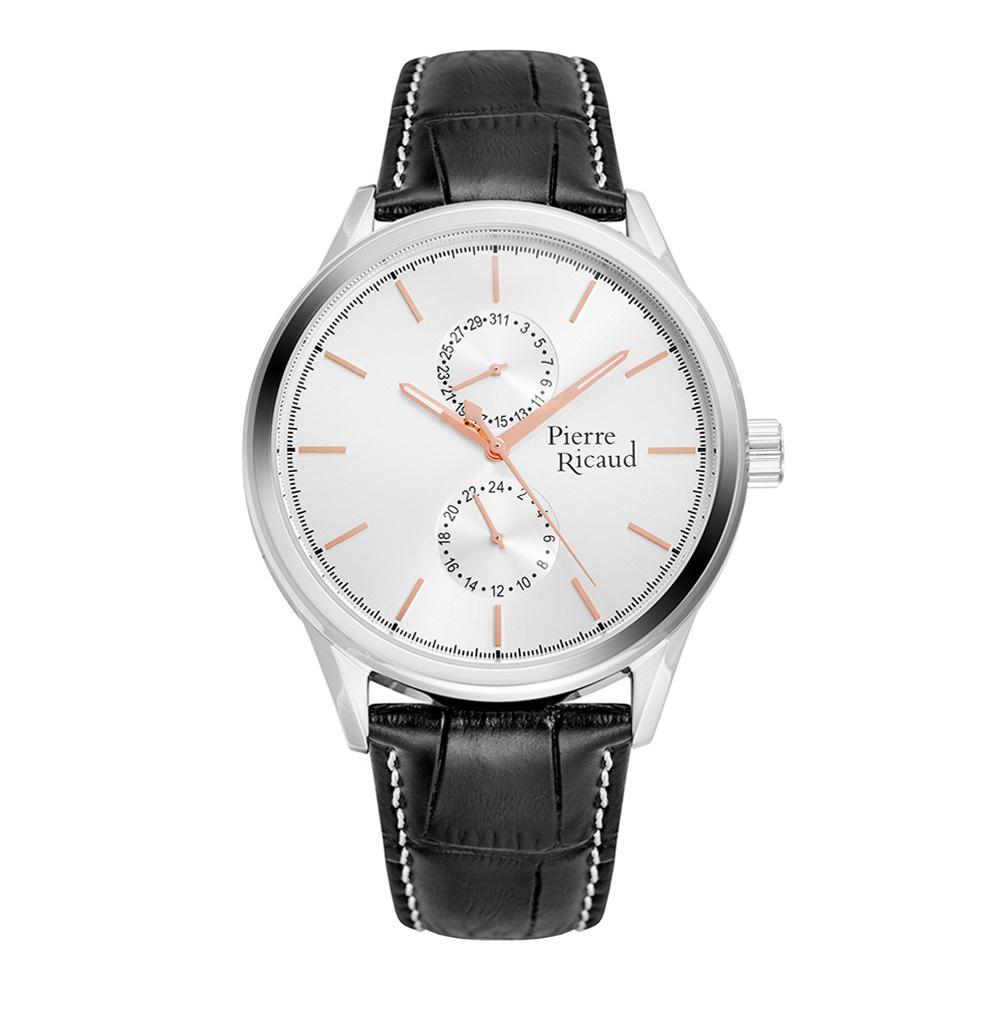 Мужские часы P97244.52R3QF на кожаном ремешке с минеральным стеклом