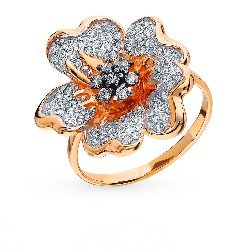 Фото «Золотое кольцо с фианитами SOKOLOV 8-010017*»