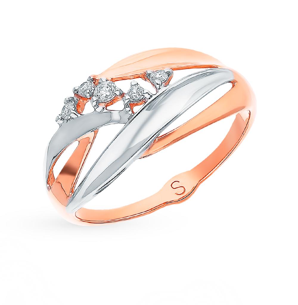 Фото «Золотое кольцо с фианитами SOKOLOV 018180*»